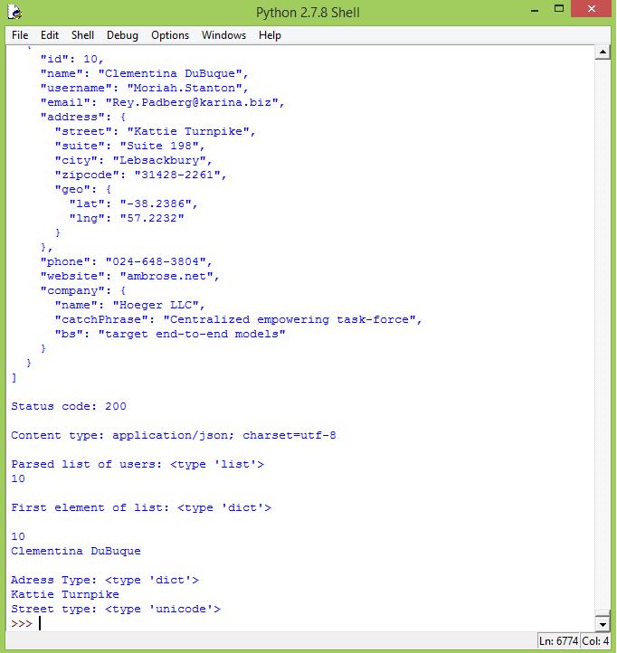 Python: Parsing JSON – techtutorialsx