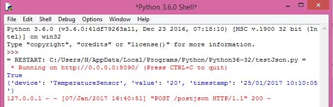 Flask: Parsing JSON data – techtutorialsx