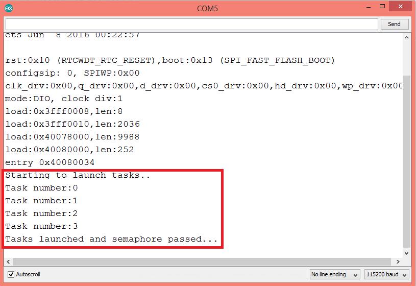 ESP32: FreeRTOS counting semaphores – techtutorialsx