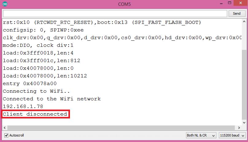 ESP32 Arduino: Setting a socket server – techtutorialsx