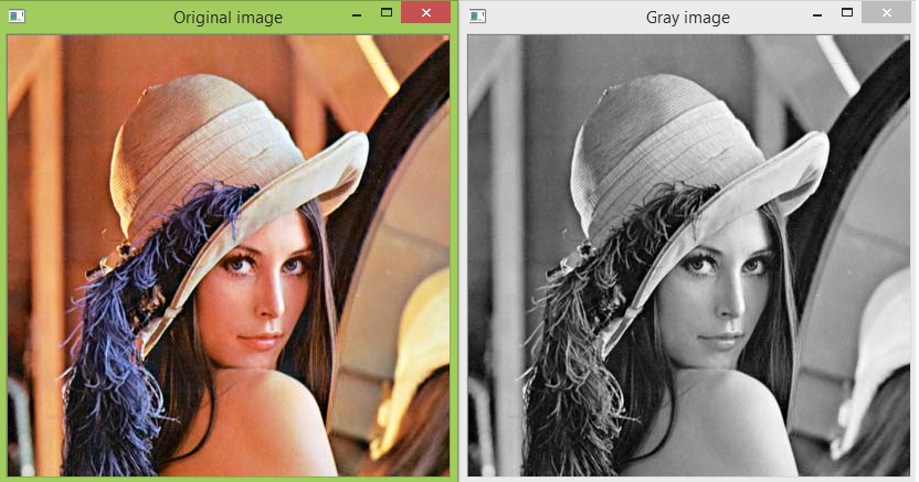 Python OpenCV: Converting an image to gray scale
