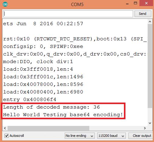 ESP32 Arduino: Base64 decoding – techtutorialsx