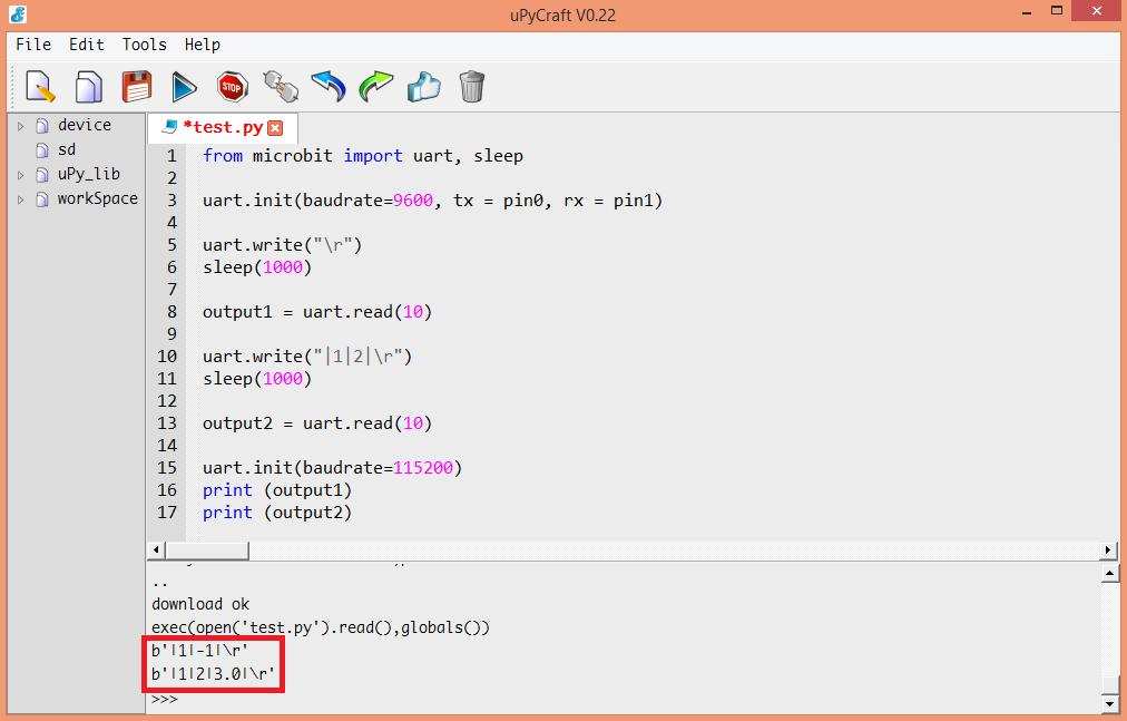 Micro:bit uPython: Getting firmware version of UART OBLOQ