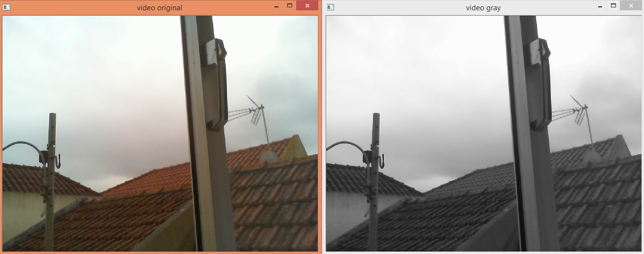 Python OpenCV: Converting webcam video to gray scale