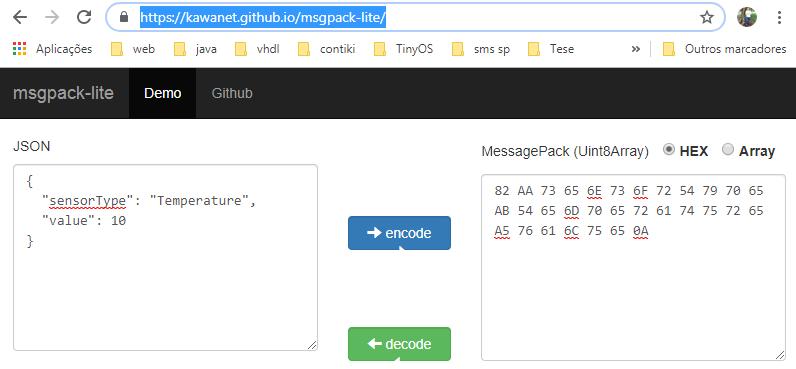 ESP32 ArduinoJSON: MessagePack Serialization – techtutorialsx